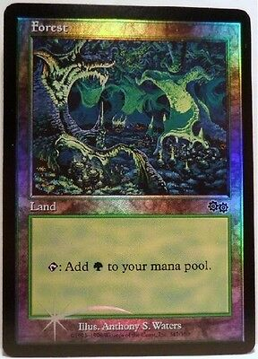 MTG ARENA URZA'S SAGA  FOIL FOREST PROMOS CARD MINT NEVER PLAYED FREE SHIP