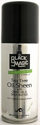 Black Magic Private Collection Tea Tree Oil Sheen Light Natural Trial Size 2 Oz.