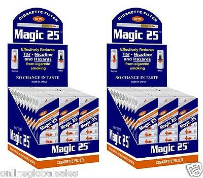 60 x Magic25 Cigarette Filters (Total 600 Filters) w/Free Efficient Filters