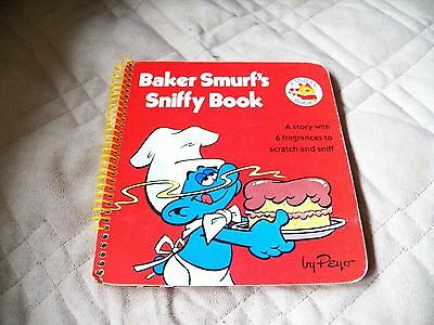 Vintage 1982 Baker Smurf's Sniffy Book Peyo Scratch N Sniff
