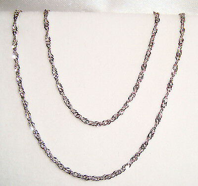 """sterling silver rhodium plated Singapore chain(18""""/20""""/24"""")"""