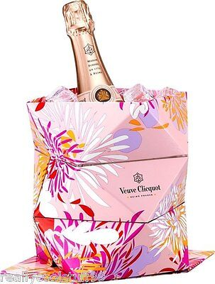 Veuve Clicquot Portable, Collapsible Ice Bucket, VCP, Rose,Origami, Hard to Find