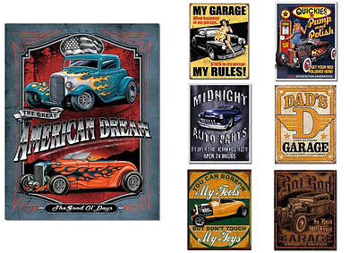Hot Rod Schild Auto Dekoration Autowerkstatt Automotive Werbung Poster Set