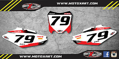 Honda CRF 250 2014 - 2016 Custom number Plates Storm graphics / stickers decals