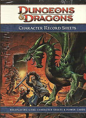 Dungeons & Dragons-D&D-Character Record Sheets-Rollenspiel-RPG-d20-OVP-new-neu