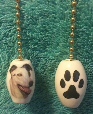 One Greyhound Dog Fan Pull With Paw Prints On The Back 1""