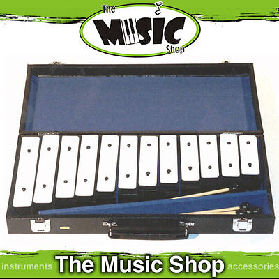 Mitello ED930 Diatonic Chime Bar Set with Case - 12 Steel Chime Bars & Mallets