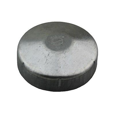 Elgate Fence Post Cap PC80 Round Tube End Suits 88.9mm OD Pipe Galvabond