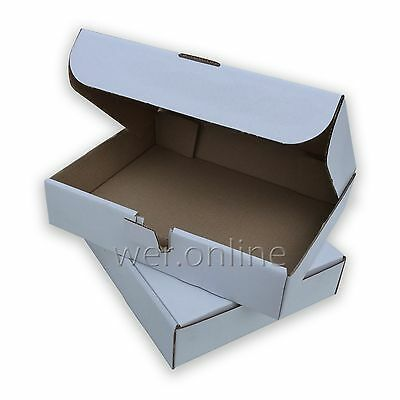 "White Compact 12x9x2.5""  Sturdy Postal Mailing Packaging Die-Cut Cardboard Boxes"