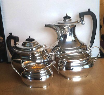Lovely Heavy Art Deco Hallmarked Solid Silver 4 Piece Tea Service OFFERS?