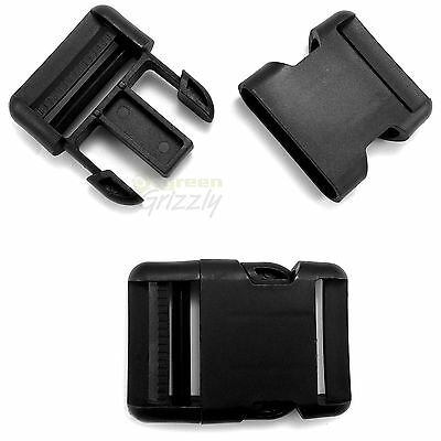Plastic single adjusting side release buckle for 40 mm webbing AIF