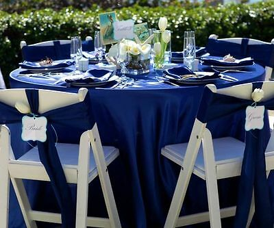 """20 pcs 90"""" ROUND Satin TABLECLOTHS Wedding Party Linens Discounted Decorations"""