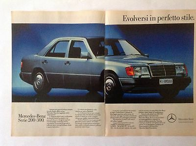 Advertising Pubblicita'  Mercedes-Benz  Serie 200-300 -  1990