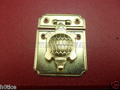2 set of 35mmx44mm Chinese vintage golden color Tortoise box latch lock catch