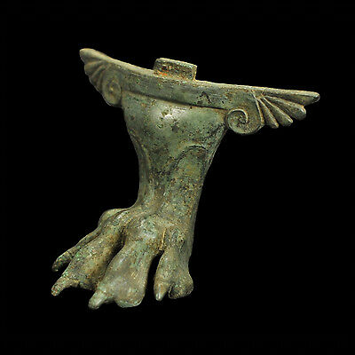Aphrodite-Ancient Greek Bronze Leg In The Form Of A Lion's Paw