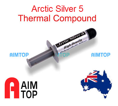 Thermal Compound HighDensity Polysynthetic Silver Artic Silver 5 for Overlocking
