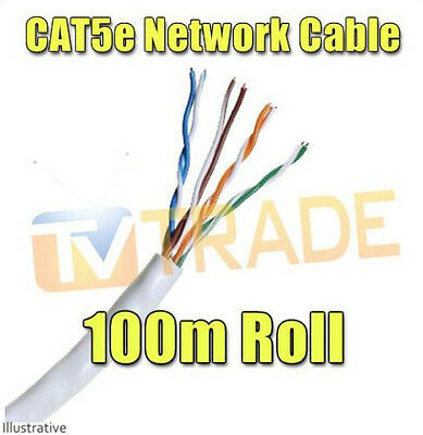 100M Cat5E Roll Network Cable Lan Cable Category 5e RJ45 Ethernet
