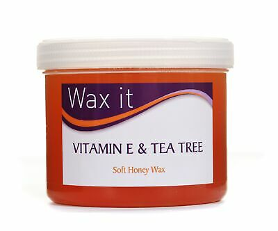 Wax It Soft Honey Wax with Vitamin E & Tea Tree Hair Removal Waxing 450g
