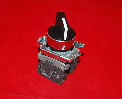 22mm Maitain Select switch 3 Position  Fits XB4BD33 Selector Switch 2NO STAY PUT