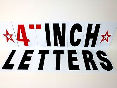 "Extra LETTER KIT 254pc For Sidewalk Sign -Black letters 4"" Changeable Flexable"