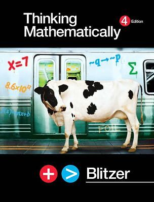 Thinking Mathematically by Robert Blitzer (2006, CD-ROM / Hardcover, Revised)