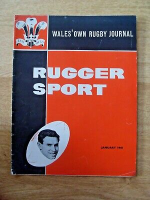 Rugger Sport 1st Edition January 1961 Rugby Magazine