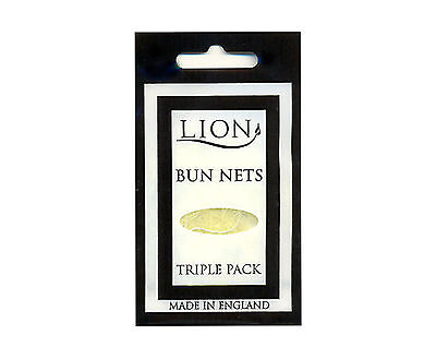 BUN NETS x 3, A Triple Pack, Lion Haircare, Best Quality, ALL 7 COLOURS.