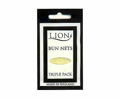BUN NETS x 6, Two Triple Packs, Lion Haircare, Best Quality, ALL 7 COLOURS.