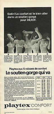 Publicité Advertising 1966 Lingerie Playtex confort soutien gorge slip d9494562245