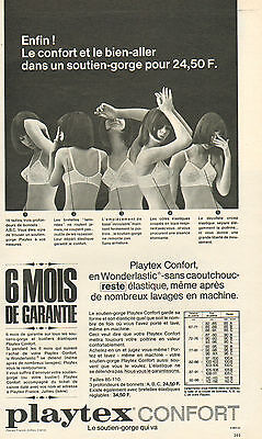 Publicité Advertising 1966 Lingerie Playtex confort soutien gorge slip . 7e6ea0f1485