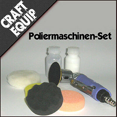 Mini Poliermaschine SET Schwämme Politur VW Opel Ford