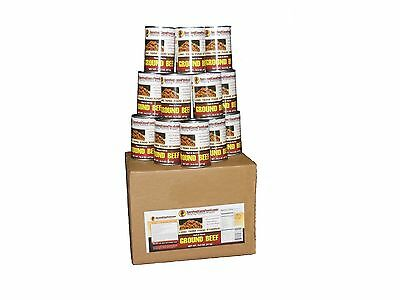Survival Cave Canned Meats 12 Cans (Ground Beef) Long Term Food Storage Supply