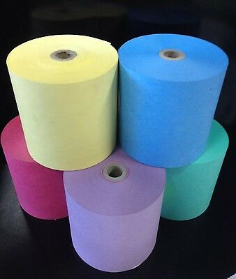 25..76mm x 76mm Dry Cleaning rolls Wet Strength Paper Rolls ( VARIOUS COLOURS )