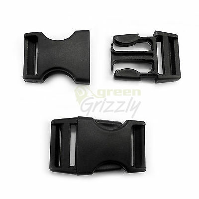 Plastic single adjusting side release buckles for 25 mm webbing, AHF