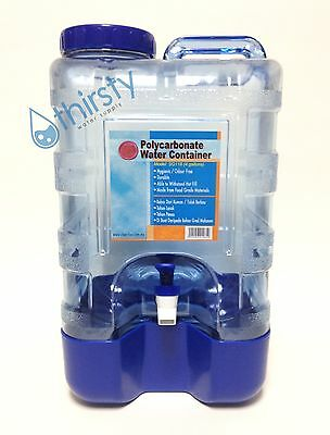 4 Gallon Plastic Water Bottle Polycarbonate Faucet Spigot Dispenser Picnic Stand