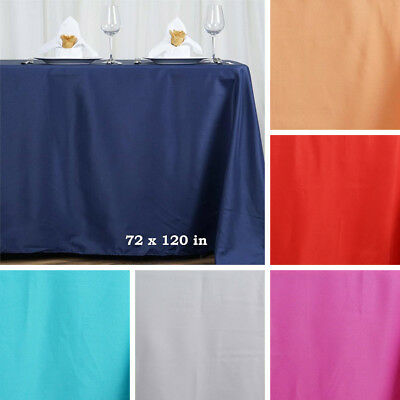 "10 pcs 72x120"" RECTANGLE POLYESTER TABLECLOTHS Wedding Tabletop Decorations SALE"