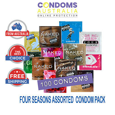 Four Seasons Assorted Condom Pack (100 Condoms) FREE SHIPPING