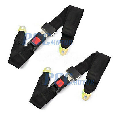 2 Set Two point Seat Saftey Belt Harness Kit GoKart UTV SingleDouble H BT11-2PC