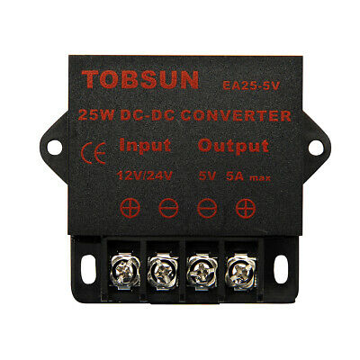 SUPERNIGHT™ DC-DC 12V/ 24V to 5V 5A Step Down Regulator Module 25W Converter