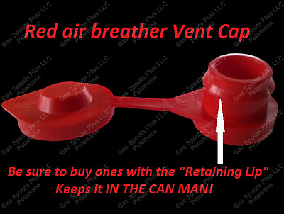 1-Pack-GAS-CAN-RED-VENT-CAPS-Air Breather FIX YOUR CAN GLUG-Wedco-Blitz-Scepter