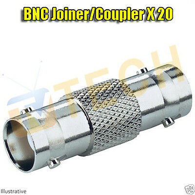 CCTV Security Camera Cable Extension Joiner Coupler Adapter BNC F to F X 20