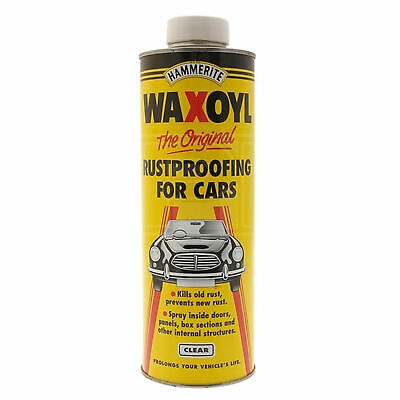 Hammerite Waxoyl Rust Proofing for Schutz Gun - Clear - 1 Litre - Cavity Wax