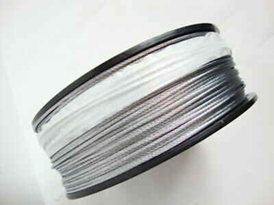 "Galvanized Wire Rope Cable, 1/8"", 7x7, 500 ft reel"