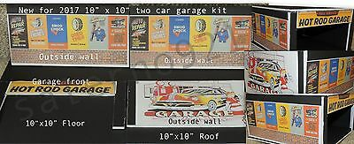 TWO CAR GARAGE BUILDING KIT(WHITE FOAM BOARD) for 1:24 (G) Scale DIORAMA