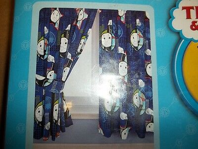 "Thomas and Friends NEW 66"" x 72"" Curtains w/ Tie Backs"