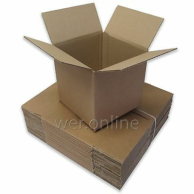 """8"""" x 8"""" x 8"""" Postal Mailing Cubed Cardboard Boxes Single Walled - Multi Listing"""