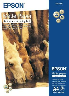 Epson (A4) Heavy Weight Matte Paper (50 Sheets) 167gsm (White)