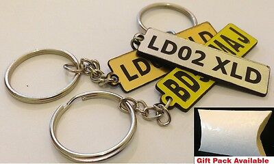 Wholesale Promotional Personalised Engraved Numberplate Name Event Keyring Tag