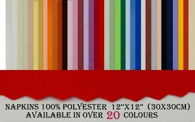 """Linen look """"NAPKINS"""" 100%Polyester 4ps.12x12""""(30x30cm) available in over 20 col."""