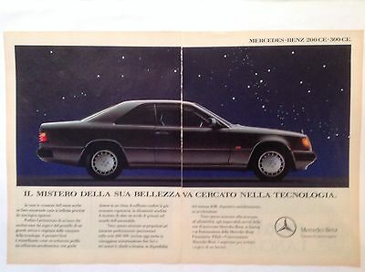 Advertising Pubblicita'  Mercedes-Benz   200-300   Ce -  1990